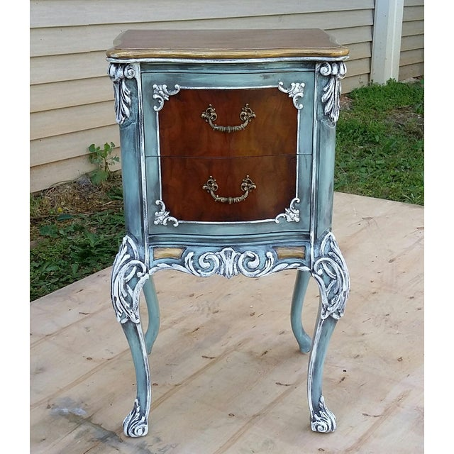 Hand-Painted French Nightstand - Image 3 of 9