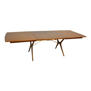 Rway Walnut X Base Dining Table With Leaves