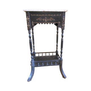 Antique Marble Top Stand