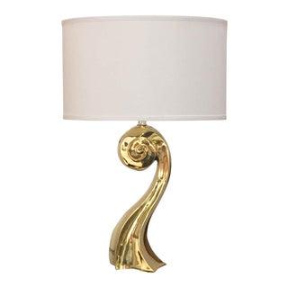 Mid Century Brass Curvy Sculptural Lamp