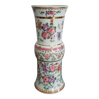 Antique Chinese Floral Lowestoft Vase