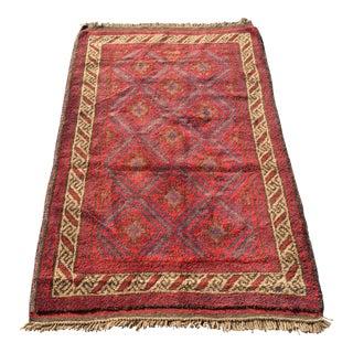 Vintage Persian Baluchi Area Rug - 2′10″ × 4′11″