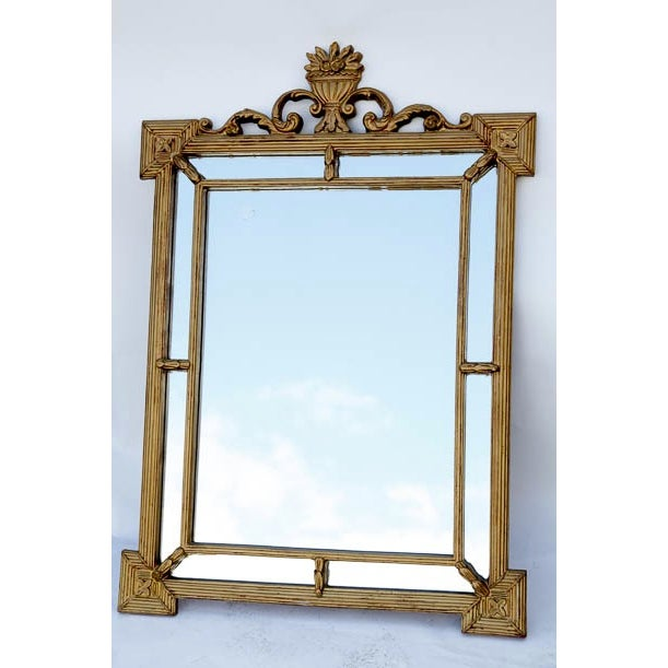 Hollywood Regency Antique Gold Ornate Large Mirror - Image 2 of 4