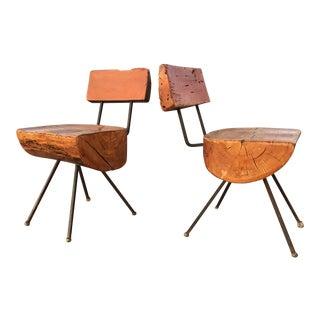 Sabena Organic Rustic Modern Chairs - A Pair