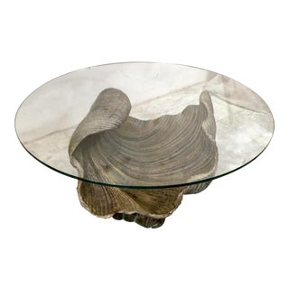 Carved Italian Shell Coffee Table