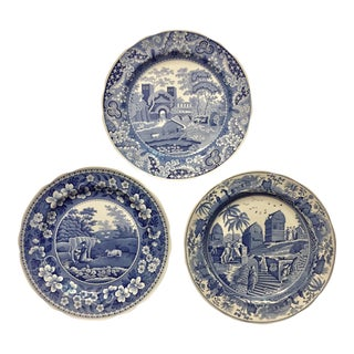 Spode Blue Room Collector Plates - Set of 3