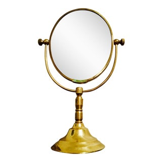 Desktop Brass Vanity Mirror
