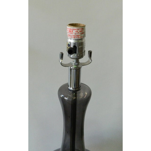 Smoked Glass Lamp - Image 3 of 4