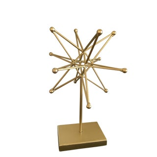 Golden Starburst Modern Art