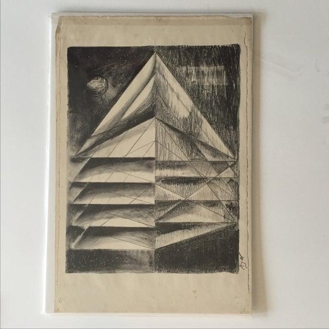 Image of Richard Ayer Vintage Geometric Lithograph Print