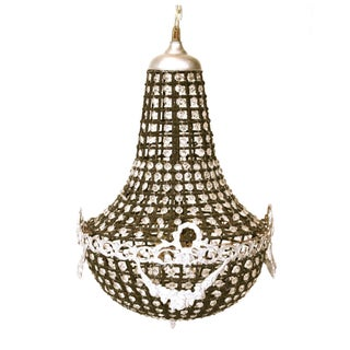 Antique Black Crystal Regency Chandelier
