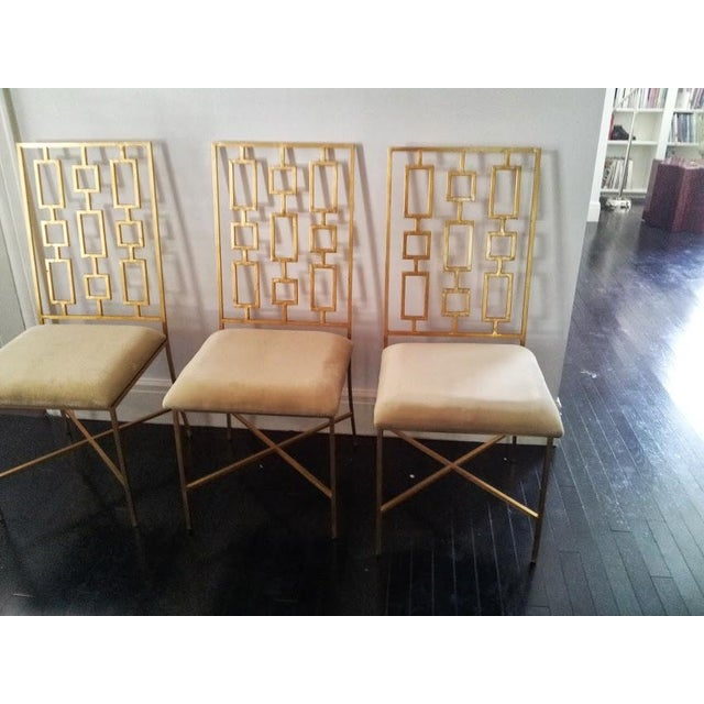 Worlds Away David Gold Iron Chairs - Set of 6 - Image 8 of 11