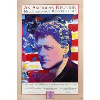 "1993 Peter Max ""Bill Clinton Inaugural, an American Reunion Ii"" Poster"