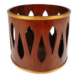 Jens Quistgaard for Dansk Staved Teak Wastebasket