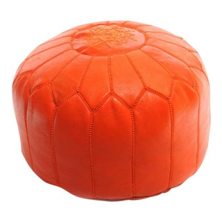Handmade Moroccan Leather Pouf Authentic Ottoman
