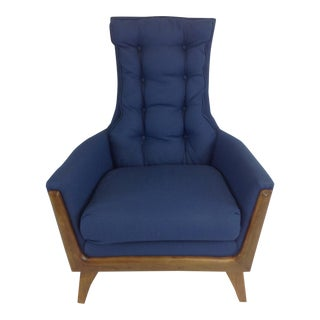 Mid-Century Upholstered Lounge Chair