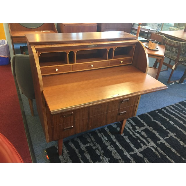 Mid-Century Danish Rosewood Roll-Top Desk - Image 8 of 9