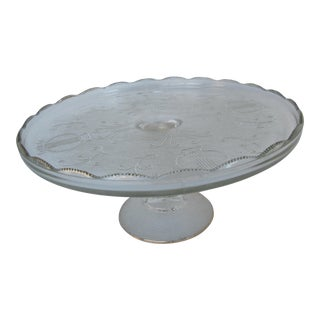 Vintage Clear Cake Plate