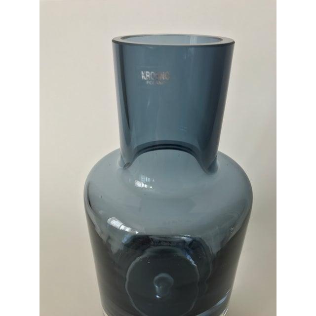Image of Polish Blue Art Glass Vase
