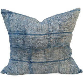 Faded Hand Spun Blue Batik Pillow