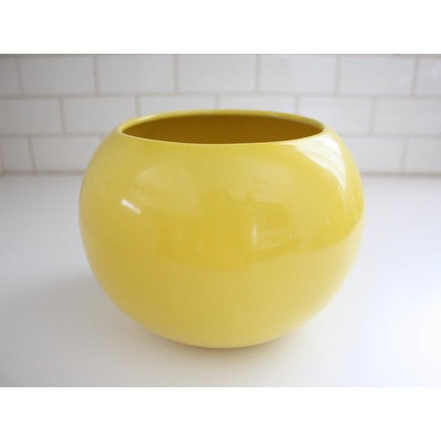 Mid-Century Yellow Ceramic Vase - Image 2 of 5