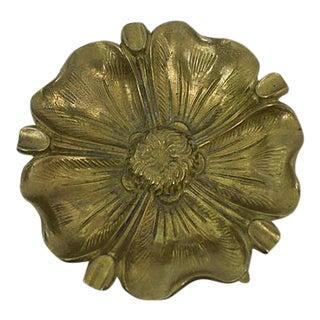 Antique Brass Flower Ashtray
