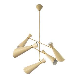 Five Light Articulating Mid-Century Chandelier
