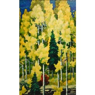 Golden Fall by Emil Bisttram (1895-1976)