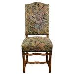 Image of Vintage Sheepbone Walnut Dining Chairs - Set of 6