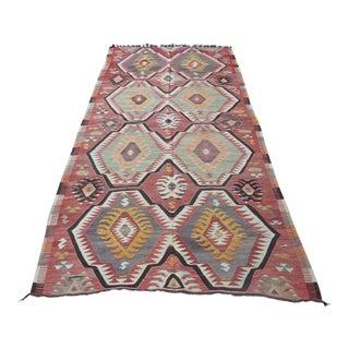"Handwoven Turkish Kilim Rug -- 4'7"" x 9'11"""