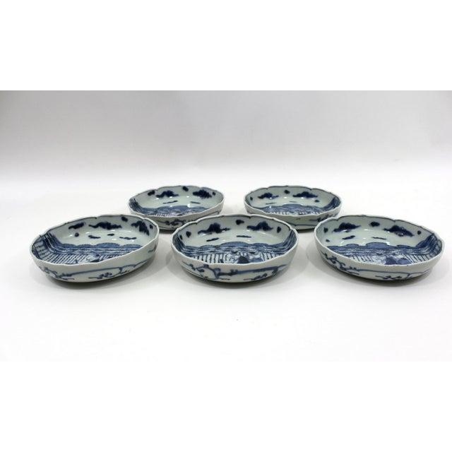 1900s Japanese Blue & White Bowls Meiji Period - Image 3 of 5
