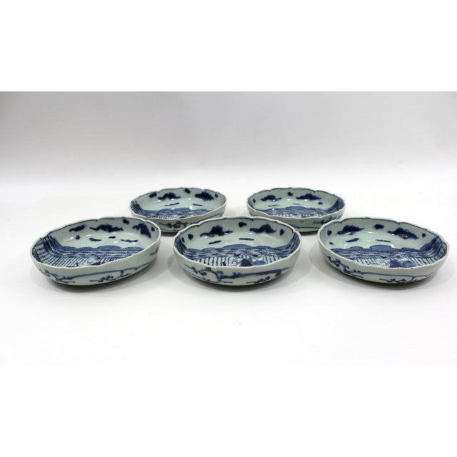 Image of 1900s Japanese Blue & White Bowls Meiji Period