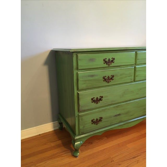 Image of Vintage Distressed Green Dresser