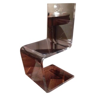 Clear Lucite Accent Chair