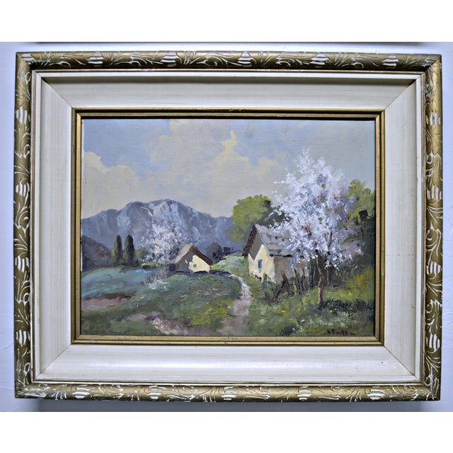 1950's Framed Canvas Triptych - Image 4 of 8