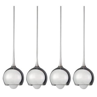 """Urano"" Chrome Pendants by Esperia, circa 1960"