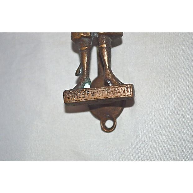Trusty Servant Brass Door Knocker - Image 3 of 7
