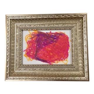 'Abstract V' Original Pastel Painting
