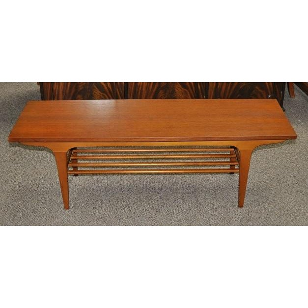 Old Teak Coffee Table: 1960's Vintage Teak Two Tier Coffee Table