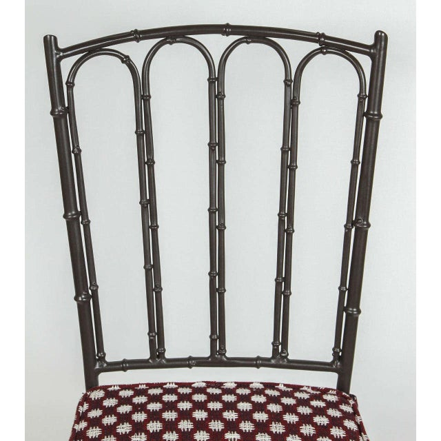 Metal Faux Bamboo Chairs - Pair - Image 5 of 7