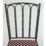 Image of Metal Faux Bamboo Chairs - Pair