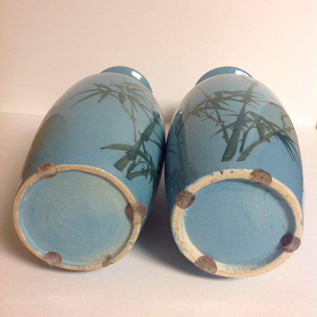 Vintage Japanese Turquoise Vases - A Pair - Image 5 of 5