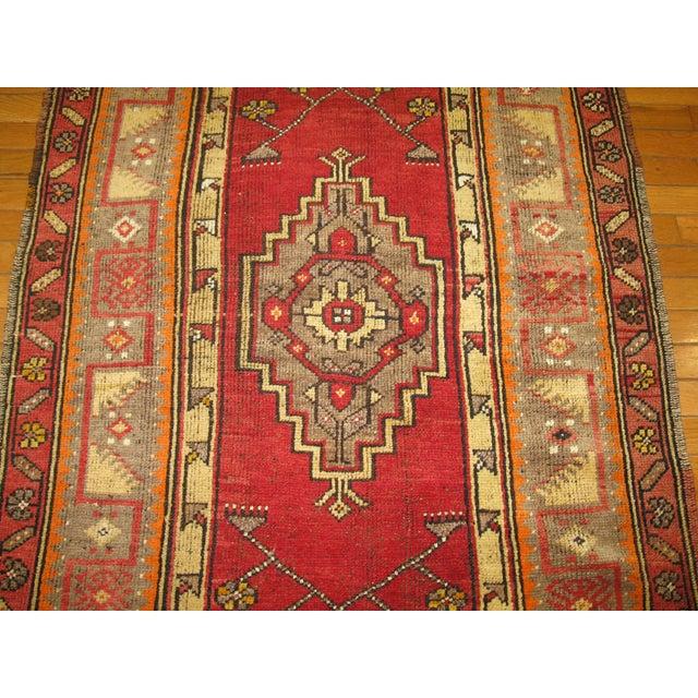Vintage Turkish Anatolian Rug - 3'4'' x 7' - Image 3 of 5