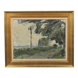 1966 Beach Road Oil Painting