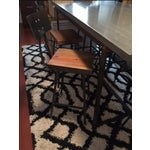 Image of Concrete Steel And Wood Dining Set