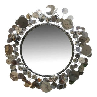 "Curtis Jere ""Raindrops"" Sculptural Wall Mirror"