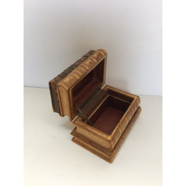 Image of Stack of Books Leather Box