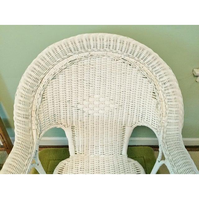 Image of Vintage Wicker Fan Back Armchair