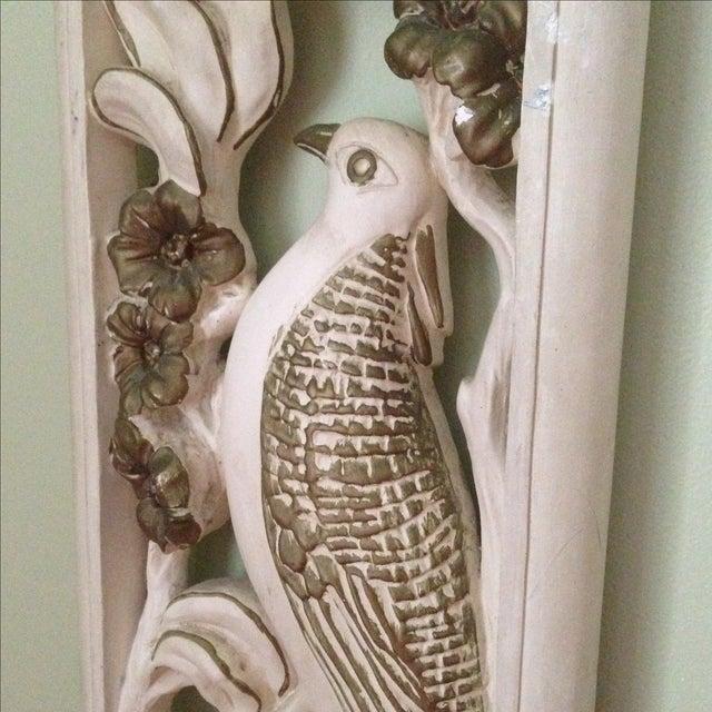 Mid Century Bird & Flower Wall Hanging - Image 4 of 11