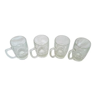 Set of 4 Mid-Century Heavy Weighted Beer or Rootbeer Floats Glass Mugs